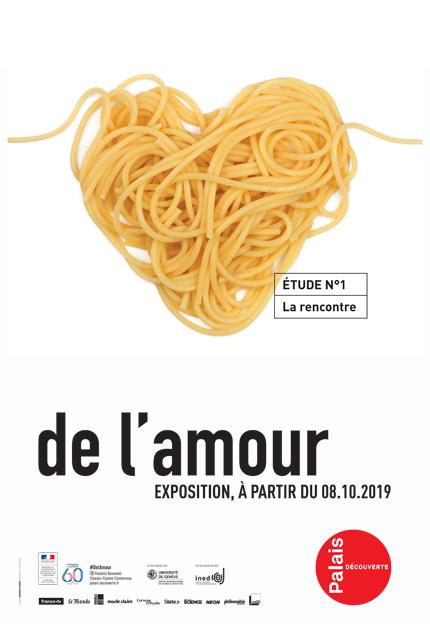 """Mostra """"De l'amour"""" al Palais de la découverte"""